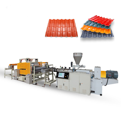 Plastic Glazed Roof Tile Extrusion Machine