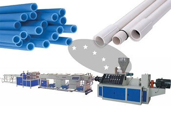 Plastic pipe production line processing technology