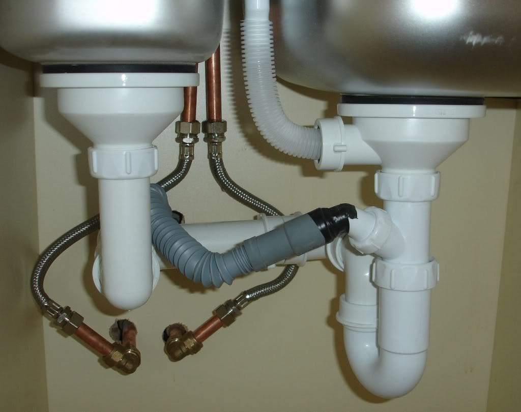 kitchen-sink pvc pipe drain