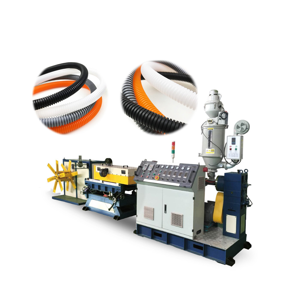 PP PE HDPE PVC Corrugated Pipe Extrusion Line